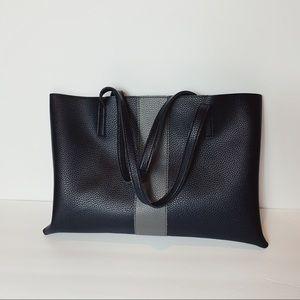 Vince Camuto Vegan Leather Laptop Bag Black & Gray